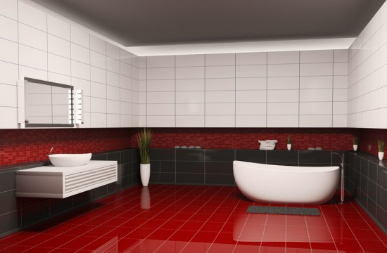 Black and red bathroom designs home design elements for Bathroom designs red