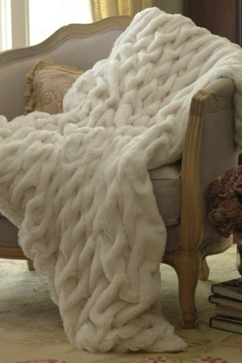 Faux Fur Throw Rustic Whimsy